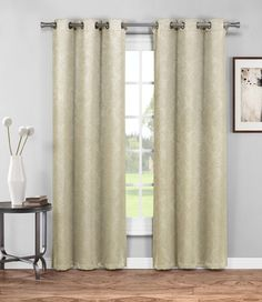 "Warm Home Designs 1 Pair of 38"" Taupe Insulated Thermal Blackout Energy Efficient Curtains"