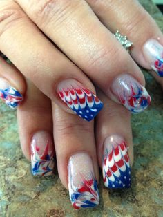 2014 4th of July nail art. All le gel