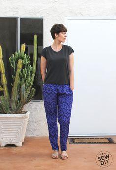 DIY Purple Ikat Woven Hudson Pants — Sew DIY