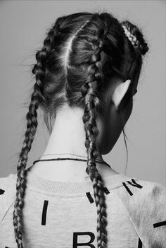 Double French plait/braid