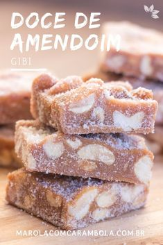 Receita de Doce de Amendoim - Gibi Gourmet Cupcakes, Cookie Recipes, French Toast, Food And Drink, Sweets, Candy, Cookies, Breakfast, Desserts