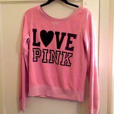 Victoria's Secret-Pink Sweatshirt Victoria's Secret-Pink Sweatshirt Rare/Discontinued. In Excellent used condition.   Size: Small Victoria's Secret Sweaters Crew & Scoop Necks