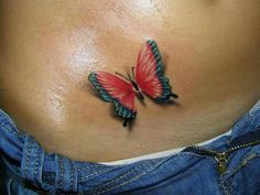 3d butterfly tattoos | Sweet. 3D butterfly tattoo | TATTOOS