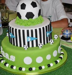 "The post ""Football cake models, football birthday cake, football player birthday cake, football collective birthday cake, football themed birthday."" appeared first on Pink Unicorn Cakes for boys Football Birthday Cake, Soccer Birthday Parties, Soccer Party, Soccer Theme, Sports Party, Bolo Original, Cake Models, Sport Cakes, Soccer Cakes"