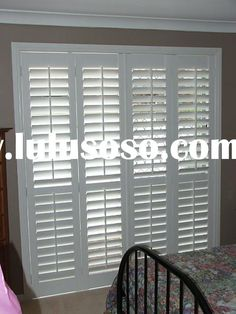 plantation shutter for sliding glass door
