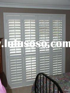 plantation shutter for sliding glass door