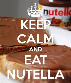 KEEP CALM AND EAT NUTELLA. Another original poster design created with the Keep Calm-o-matic. Buy this design or create your own original Keep Calm design now. Nutella, Keep Calm Posters, Keep Calm Quotes, Keep Calm Carry On, Keep Calm And Love, Affiches Keep Calm, Keep Calm Wallpaper, Iphone Wallpaper, Keep Clam