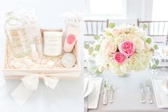 Wedding Favors by Salt and Pepper Co., Flowers by Intrigue Design & Decor