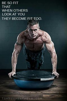 """""""Or at least want to be fitter. #fitfluential""""  This reminds me of a Chuck Norris job. Not to take away from the shredded eye candy though.."""