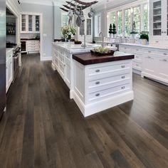 The kitchen that is top-notch white kitchen , modern kitchen , kitchen design ideas! Diy Kitchen Cabinets, Kitchen Flooring, Wood Cabinets, Vinyl Flooring, Kitchen Counters, Flooring Ideas, Home Flooring, Wood Countertops, Hardwood Floors In Kitchen