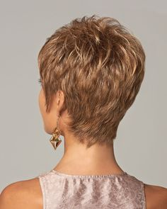 Close-cropped and lavishly layered, this fashionable cut is as easy as it is flattering. FACE SHAPES: Oval | Round | Square | Diamond | Heart | Pear | Oblong SPECIFICATIONS: Hair Type: Synthetic | Headsize: Average | Front: 3.25"
