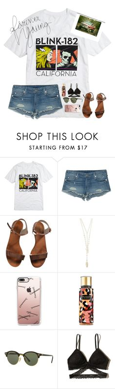 """Her daughter had a heart that was wild and free. If you blink 182 then you'd miss me and her."" by erinleigh02 ❤ liked on Polyvore featuring Hot Topic, True Religion, Emporio Armani, Design Lab, Casetify, Victoria's Secret, Ray-Ban and Hollister Co."
