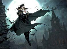 Gothic Horror, Gothic Art, Horror Art, Fantasy Artwork, Magic The Gathering, Jason Chan, Art Vampire, Vampire Fangs, Gothic Vampire
