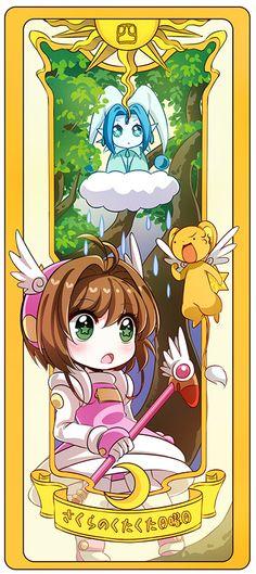 La lluvia y el bosque de pororo y Sakura