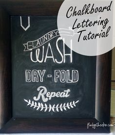 Chalkboard Lettering and Design Tutorial - for those who are not great at hand lettering!