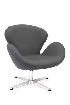 Astro Lounge Fabric Chair - Charcoal