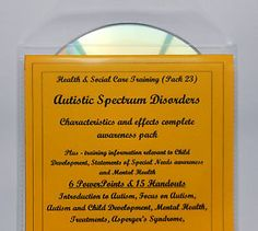 Training Resource CD AUTISM Health Social Childcare and Education QCF Level 2 3