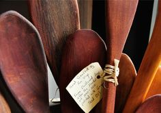 We Love Ron Sleep's wooden spoons made from driftwood salvaged from the 2011-12 Floods.