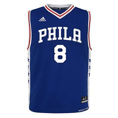 NBA Brand NBA Boys 47 Philadelphia 76Ers Okafor Away Replica jersey M56 Blue      5733b87fe