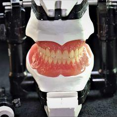 Full denture model with gum Valplast (front view) #dentallab #miami #dentures #dentallabdiscount #beautifulteeth #smiles