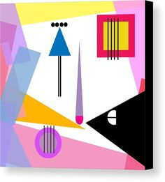 Geometric Art 321 Canvas Print by Bill Owen.  All canvas prints are professionally printed, assembled, and shipped within 3 - 4 business days and delivered ready-to-hang on your wall. Choose from multiple print sizes, border colors, and canvas materials.