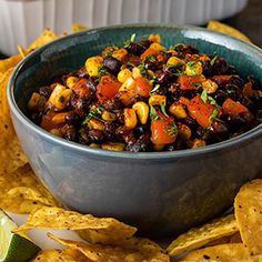 Check out this great recipe from Franks RedHot: Corn-And-Black-Bean-Salsa Black Bean Corn Salsa, Black Bean Dip, Casserole Recipes, Crockpot Recipes, Cooking Recipes, Mexican Dishes, Mexican Food Recipes, Ethnic Recipes, Caprese Salad Recipe