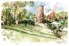 Watercolor Sketching Example by Marc Taro Holmes