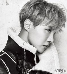 BTS J-Hope - Singles Magazine January '17  // uh, jawline?