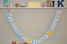 Welcome Baby Banners by JKreations2013 on Etsy, $26.50