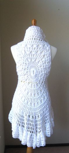 Crochet Pretty Circle Jacket With Pattern Pinterest Vest Pattern