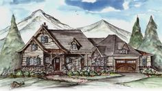 House Plan 699-00021 - Mountain Rustic  Plan: 1,939 Square Feet, 3 Bedrooms, 3 Bathrooms
