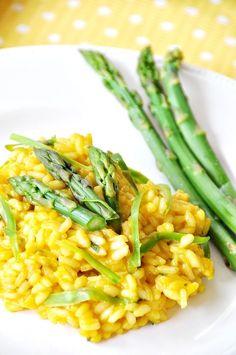 Lemon and Asparagus Risotto Vegan Foods, Vegan Vegetarian, Vegetarian Recipes, Healthy Recipes, Vegan Risotto, Risotto Recipes, Chorizo Risotto, Pan Dulce, Filet Mignon Chorizo