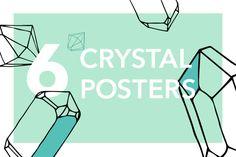 6 Crystal Posters by Schreibikus on @creativemarket /Volumes/Marketing/_MOM/Design Freebies/Creative Market Freebies/source materials