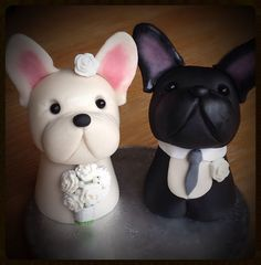 French Bulldog Wedding Cake Toppers on Cake Central