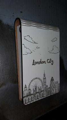 Caderneta de ideias London com gravação a laser