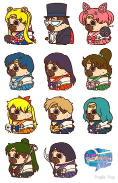 Pretty Soldier Sailor Puglie by Puglie  Pug