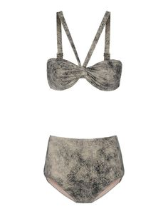#Swimwear  Swimwear & Beachwear for Women : Prism Gray Bandeau Bikini