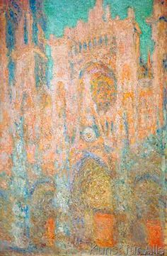 Claude Monet: The Cathedral in Rouen (Cathedral in pink). , Canvas on Stretcher, Framed Picture, Glass Print and Wall Paper. Monet Paintings, Paintings I Love, Nature Paintings, Claude Monet, Artist Monet, Mary Cassatt, Impressionist Artists, Art Japonais, Albrecht Durer