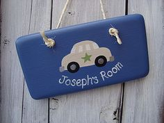 Personalised Car Door Sign by Giddy Kipper