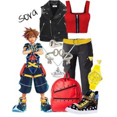 """Sora: Kingdom Hearts"" by shelby-berti on Polyvore"