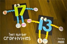 Such great ideas for hands on teen number activities!
