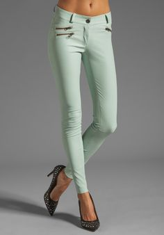 MACKAGE Miki Stretch Leather Pant in Mint at Revolve Clothing - Free Shipping!