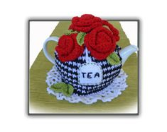 Quick & easy to make written pattern includes images, called Fruit Salad Tea Cosy Pattern Will fit an 4-6-cup Tea Pot Basic Skills Needed Knitted on the flat with single pointed needles American terminology with metric measurements It is constructed by using both basic knitting (tea cozy & bee) & basic crochet stitches (decorations) The fruit bowl consists of strawberries, gooseberries, blueberries, banana and kiwi slices, sitting on a dollop of cream & spoon _____________________________...
