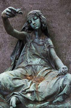 Young girl of Bou-Saada by Louis-Ernest Barrias, Tomb of Gustave Guillaumet, Montmartre Cemetery, Paris Cemetery Monuments, Cemetery Statues, Cemetery Headstones, Old Cemeteries, Cemetery Art, Angel Statues, Graveyards, Montmartre Paris, Beaux Arts Paris