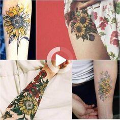 Sunflower Tattoo Meaning - Popular Sunflower Tattoo Ideas for Women and Men - Sunflower Tattoo Meaning – Popular Sunflower Tattoo Ideas for Women and Men - Watercolor Sunflower Tattoo, Sunflower Tattoo Meaning, Sunflower Tattoo Sleeve, Sunflower Tattoo Shoulder, Watercolor Flower, Sunflower Tattoos, Small Tattoos Men, Small Phoenix Tattoos, Wrist Tattoos For Women
