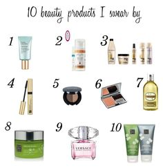 """""""Products i swear by"""" by toraae ❤ liked on Polyvore featuring beauty, Estée Lauder, REN, Redken, Glo Minerals, Rituals, Versace, La Prairie and L'Occitane"""
