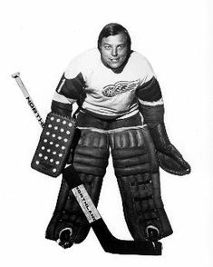 Andy Brown was the last bare-faced tender in the NHL. He played with Detroit in 17 games during parts of & before finishing his NHL career with Pittsburgh. He had a 12 year career spread around the AHL, CHL, EHL, NHL & WHA. Hockey Goalie, Ice Hockey, Nhl, My Wife Is, Detroit Red Wings, Pittsburgh, Superhero, Sports, Big Time