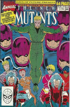 The New Mutants Annual 6. 1990. Combine Comic Orders to save! (Free Shipping Canada/US)