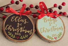 Personalized Ornaments for Baby's First Christmas
