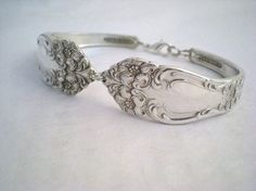 Silver spoon bracelet, gotta find some forks, spoons that are right for these